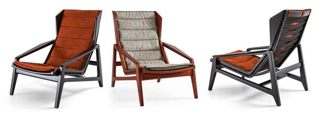 Gio Ponti's 1956 chair, revived by Molteni&C
