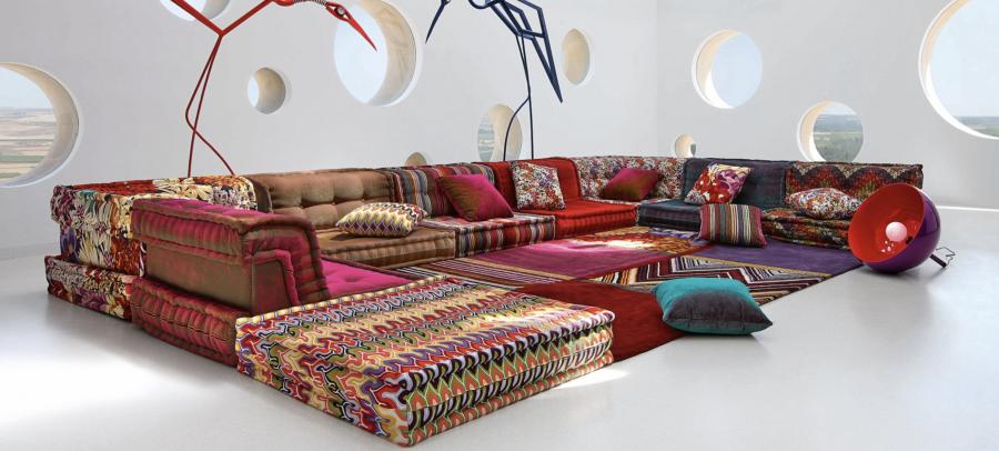 Hans Hopfer's Mah Jong sofa, image via Roche Bobois