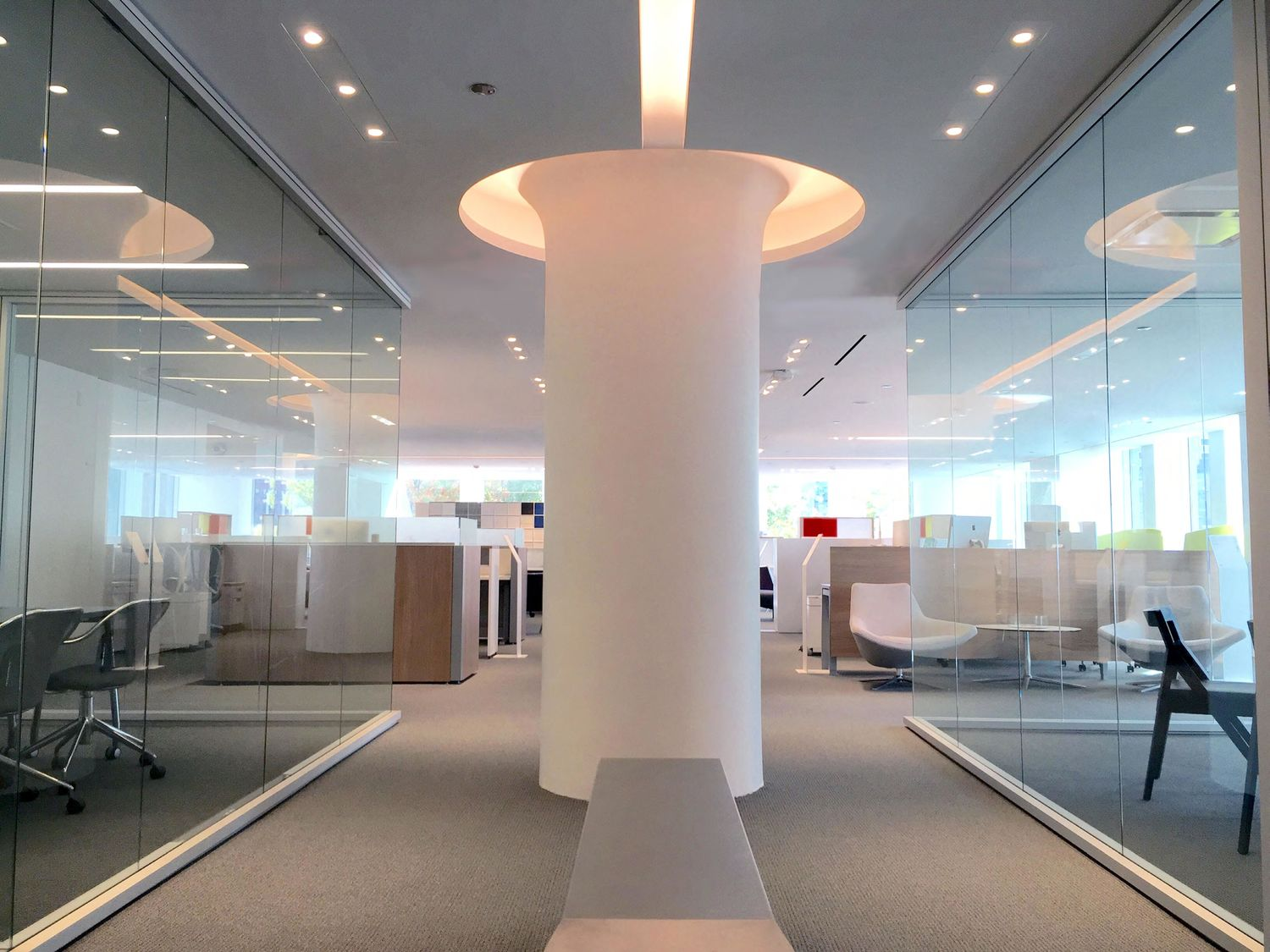 Teknion's WELL certified Boston showroom. Photo via Teknion.
