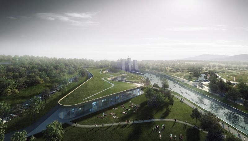 Rendering of the new museum. Image via Canadian Canoe Museum