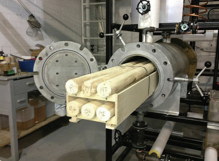 Wood research at Laval. Photo via Universite Laval.