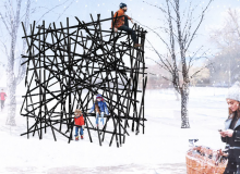 Ice Breakers, 'Black Bamboo' by Bennet Marburger and Ji Zhang of 2408 Studio ( Hangzhou Shi, China)