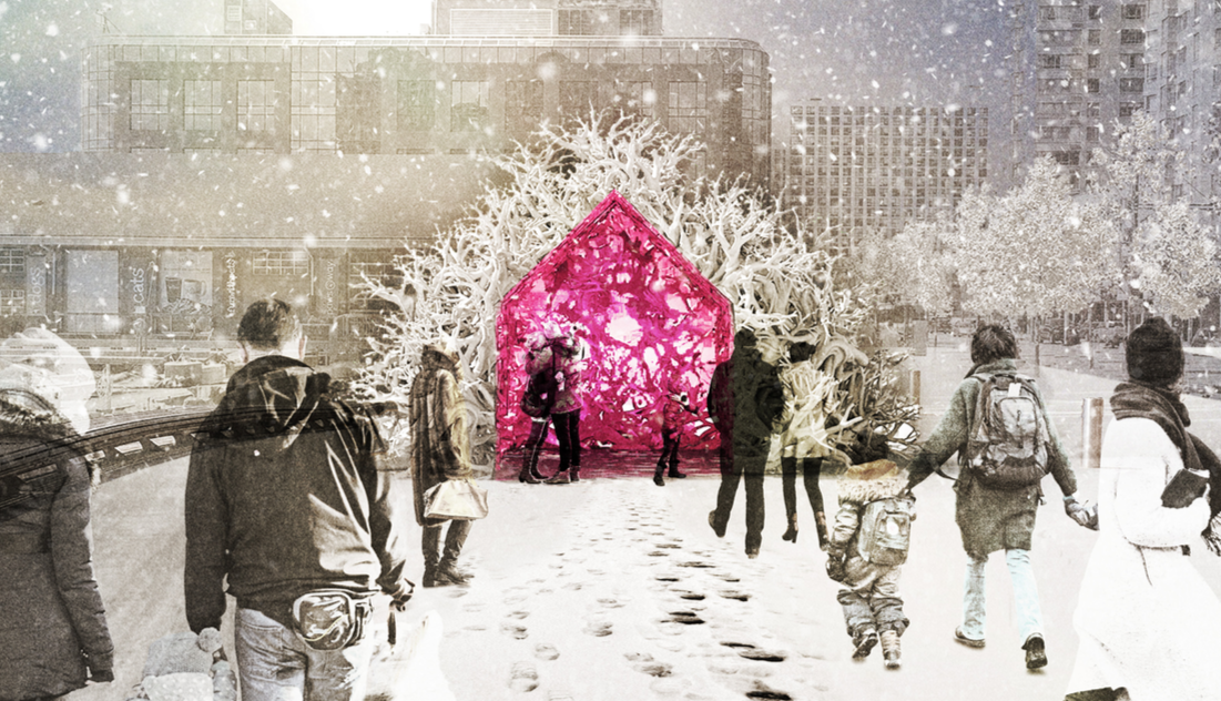Ice Breakers, 'Root Cabin' by Liz Wreford and Peter Sampson, Public City Architecture (Winnipeg, Canada)