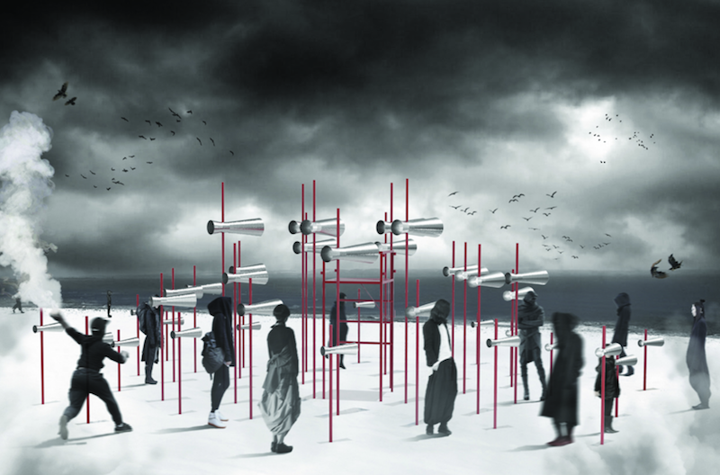 Revolution, OCAD University student winner. Image via Winter Stations