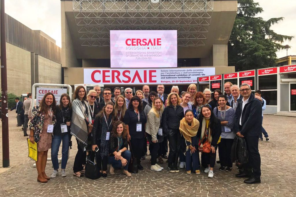 The Italy Tile Competition group at Cersaie 2017. Photo via Ceramics of Itality