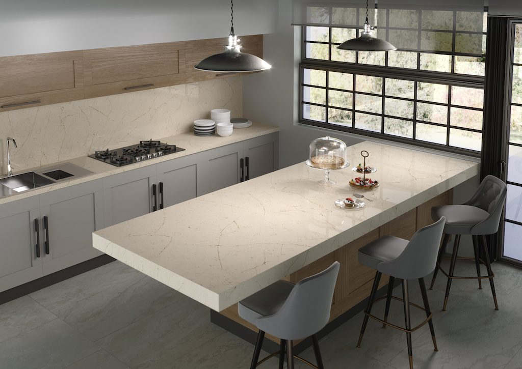 Silestone Eternal Marfil. Photo courtesy of Cosentino.