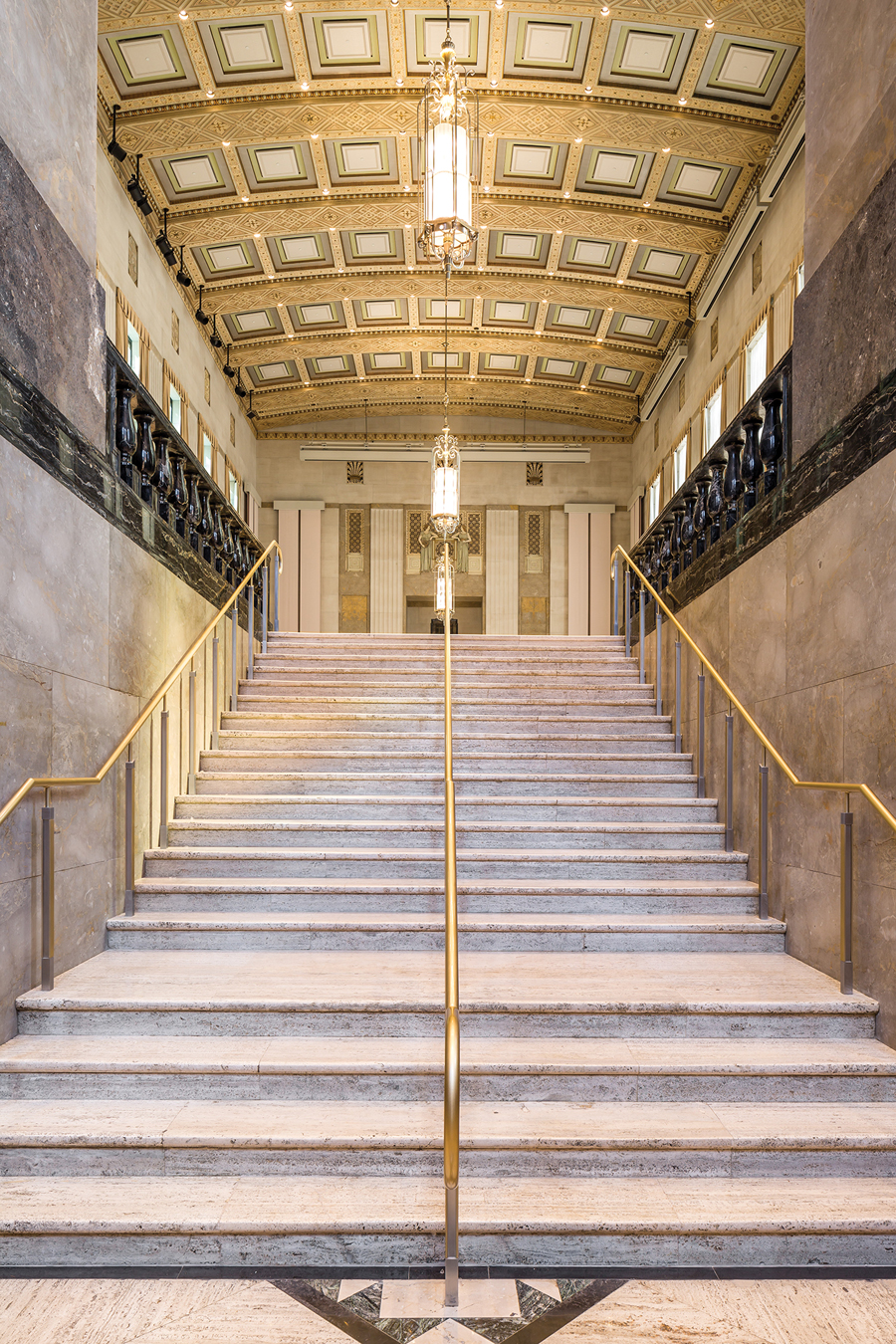 Grand Foyer And Rear Of Auditorium Of Allen Place In Montreal : Sir john a macdonald building canadian interiors