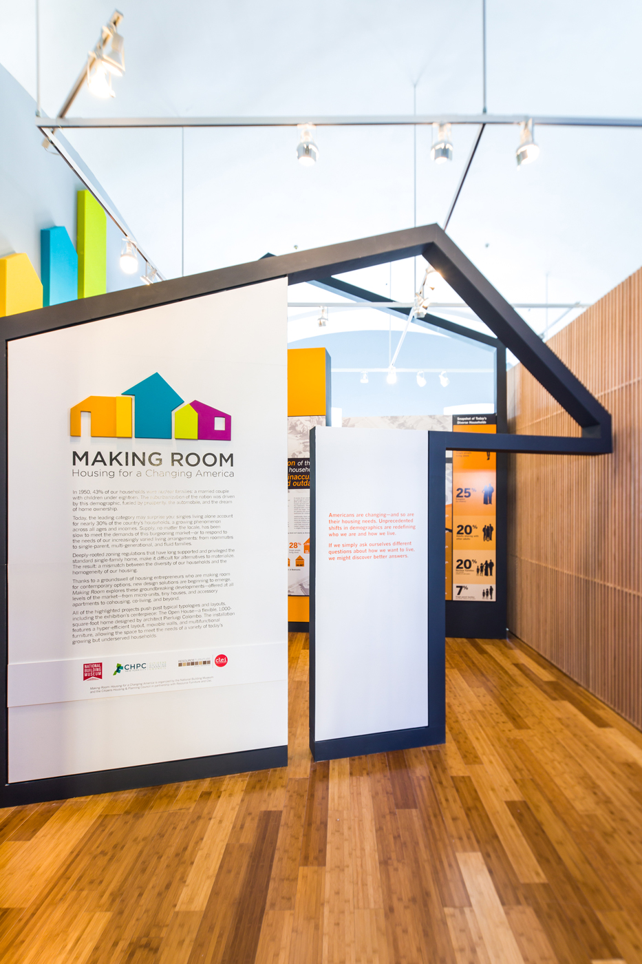 Making Room: Housing for a Changing America. Photo by Yassine El Mansouri via National Building Museum.