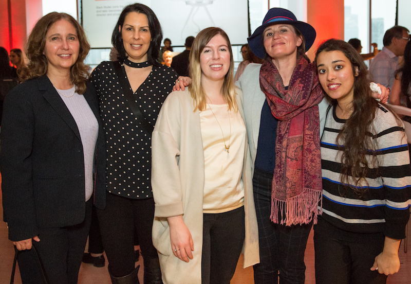 From interior design firm Bullock+Wood Design: Donna Wood, president; Paula Santos, director, marketing and admin; Angela Kisielewski, project designer; Jacquie Claassen, design director; and Zinnia Bookwala, project designer.