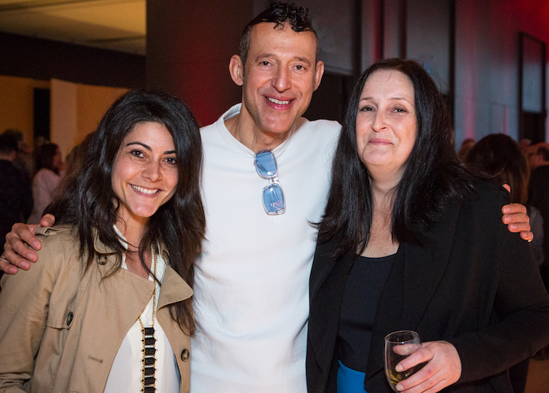 The star and his entourage: Jasmine Virginia, business development manager at ShopKarim; his coolness, Karim Rashid; and his agent, Nicole Potvin, president, Verve Projects.