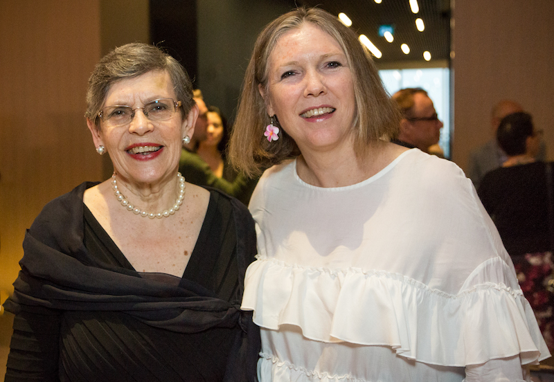 Pirkko Shalden, president of her eponymous HR consultancy and widow of Dean Shalden, the former long-time Canadian Interiors editor and side-table designer for Nienkamper; and Tracy Bowie, the recently retired former czarina of IIDEX, now a consultant to Interior Designers of Canada.