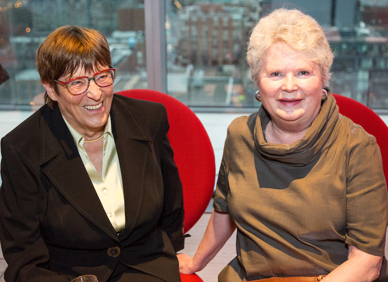 Talk about family resemblance! Klaus Nienkamper's sister, Doris Hogenkamp, who flew in from Mulheim, Germany, for the party, explained that their mother's antique store sparked young Klaus's interest in furniture. Beatrix Nienkamper's friend Kristina Charles, formerly of the Swedish Travel Commission.
