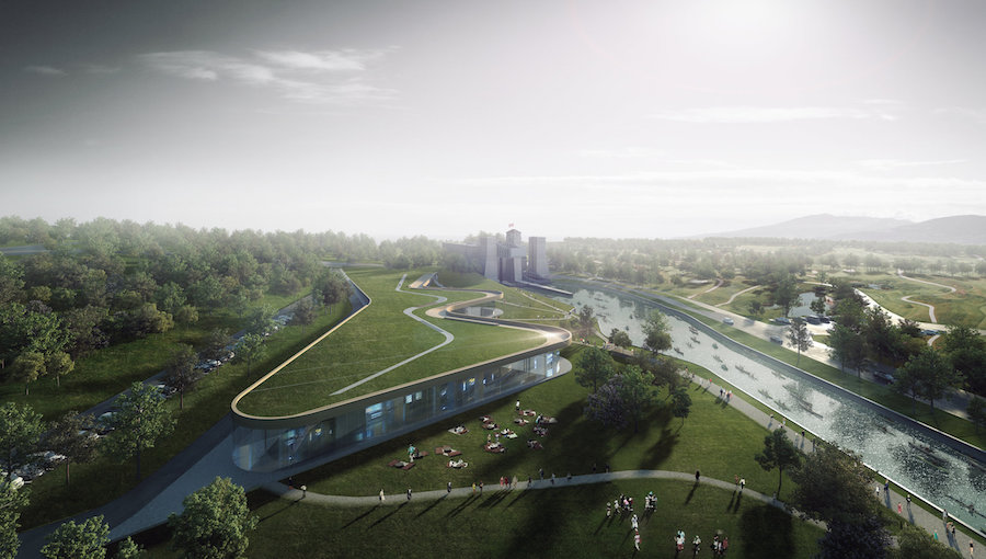 A rendering of the future Canadian Canoe Museum. Image via canoemuseum.ca