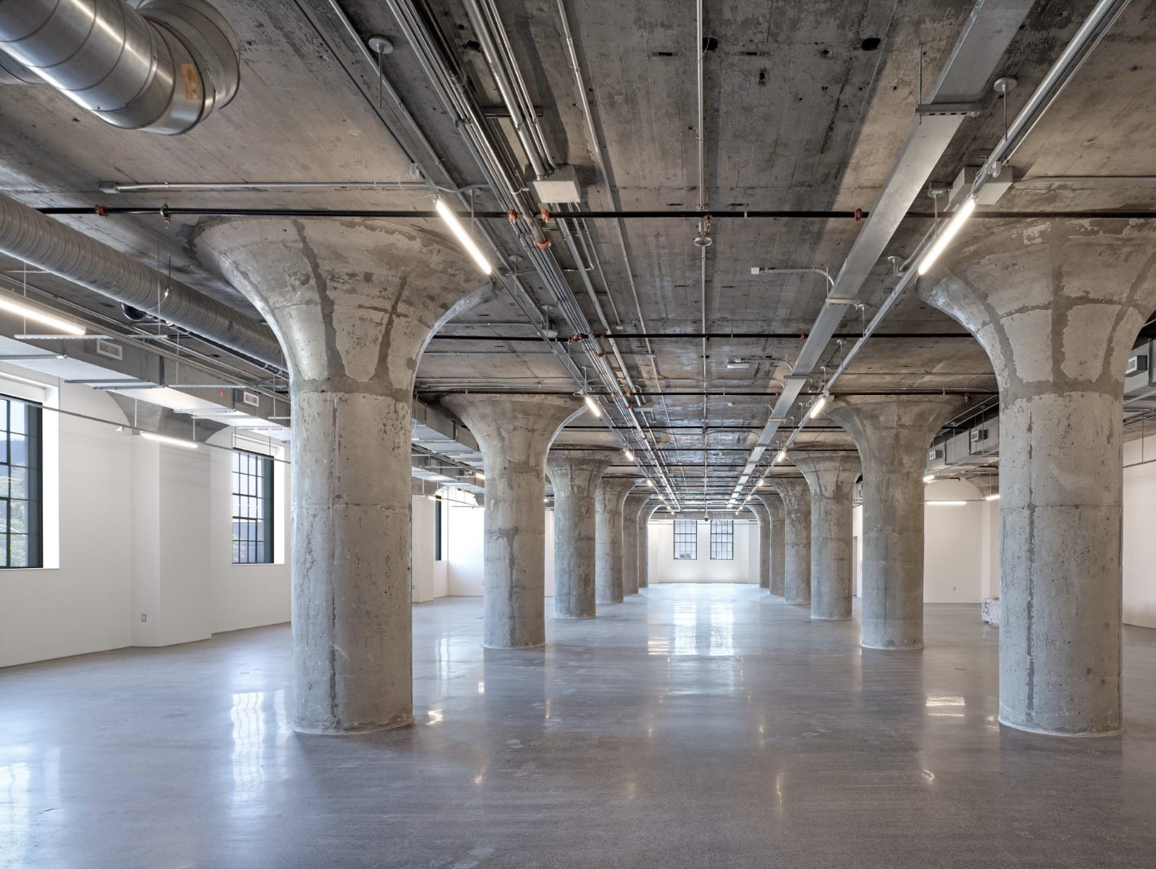 The MOCA interior, awaiting the first exhibitions. Photo by Ben Rahn / A-Frame.