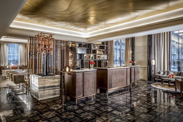 The revamped St. Regis interior was designed by DesignAgency and Chapi Chapo. Image via Marriott Hotels.