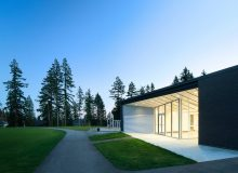 IESBC's 2017 recipient AES Engineering received the Award of Merit for their Exterior Lighting Design submission of the West Newton Cricket Fieldhouse in Surrey, BC. Architect: Shape Architecture. Photo by Ema Peter.