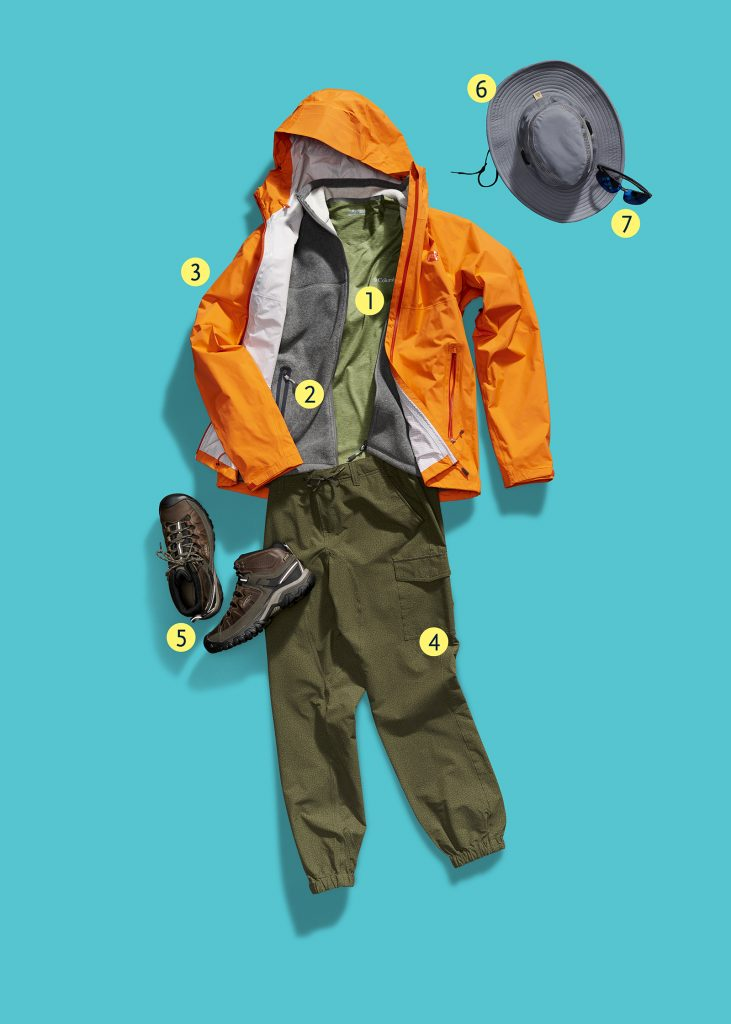 Outfit composed of various gear from MEC and Atmosphere