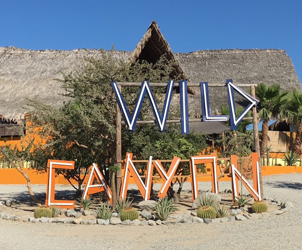 Wild Canyon Adventures Sign in Mexico
