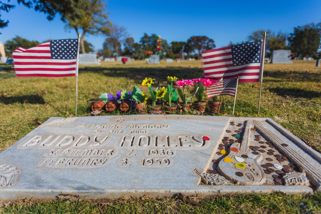 The grave of Buddy Holly