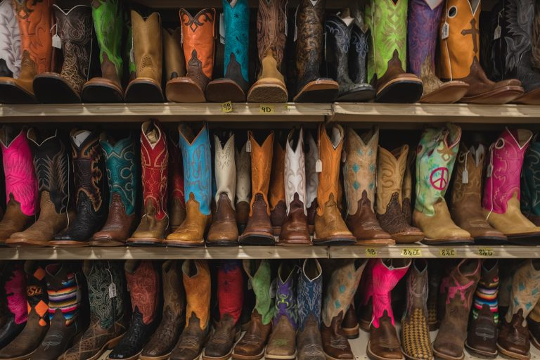 Rows of Cowboy boots