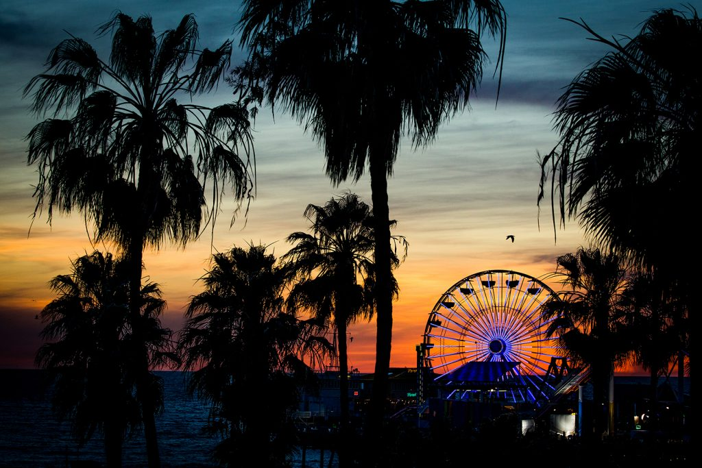 Sunset over the Santa Monica Pier