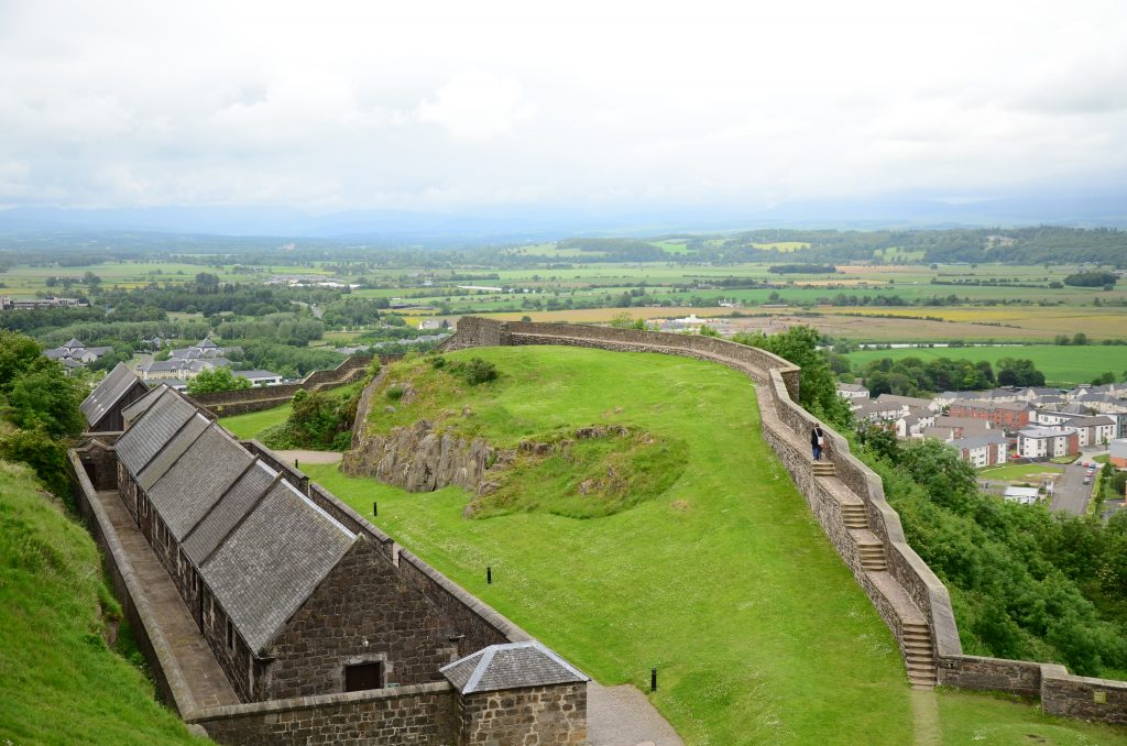 The view from the ramparts of Sterling Castle.