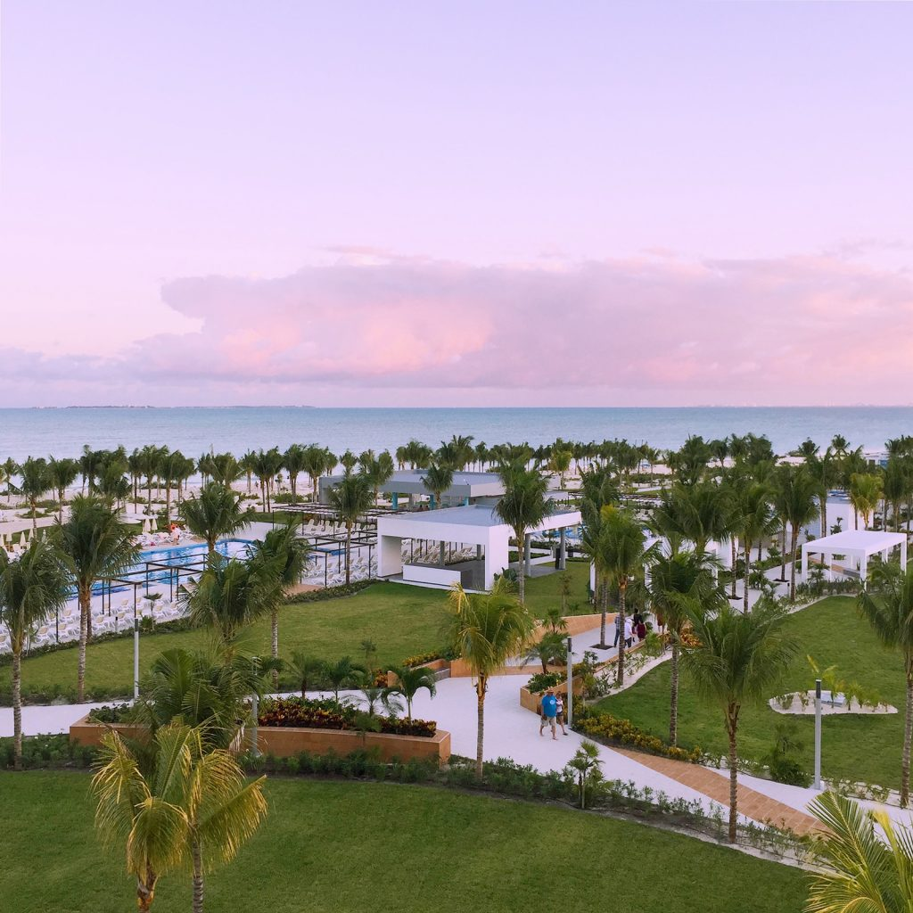 A sunset,view looking out over the Riu Dunamar's beachfront.