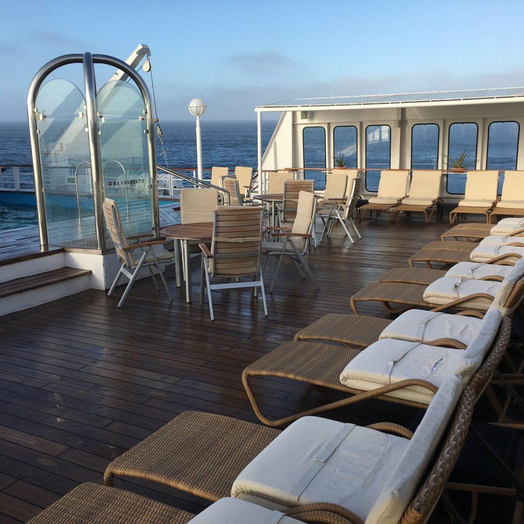 The RCGS Resolute pool deck