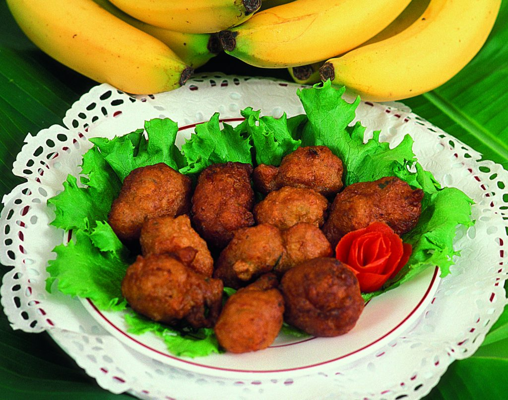 Accras (a.k.a. cod fritters) - traditional cuisine of Guadeloupe