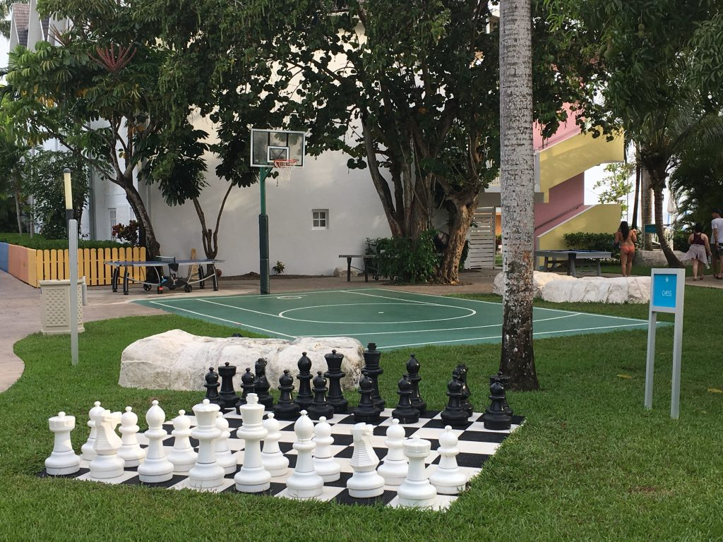 Chess, ping pong basket ball Jamaica Azul Beach Resort Negril