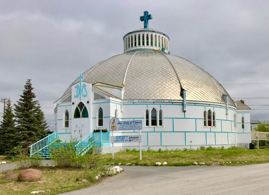 An igloo-shaped church in Inuvik, Northwest Territories
