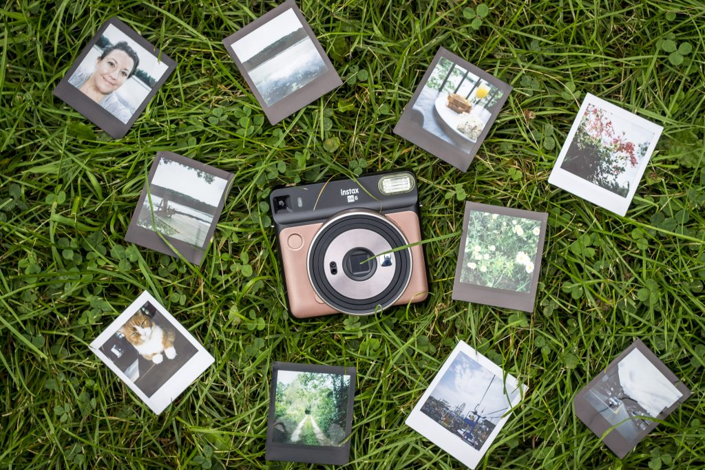 Fujifilm Instax Square SQ6 camera in rose gold