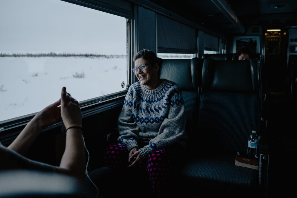 Lena Spence-Hanson, passenger, Via Rail, train