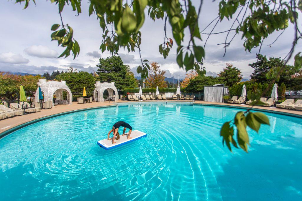 Yoga, pool, Vancouver, wellness, Westin Bayshore hotel,