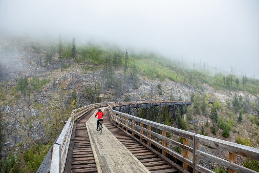 wellness, Kelowna, Myra Canyon, cycling, hiking