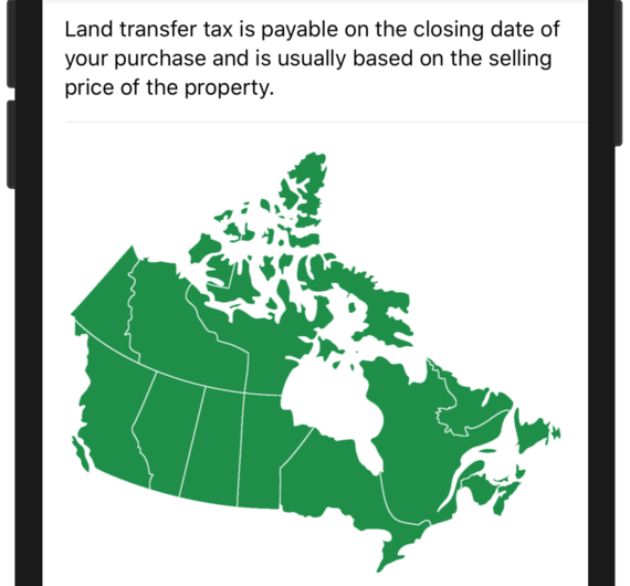 Check Land transfer taxes anywhere in Canada