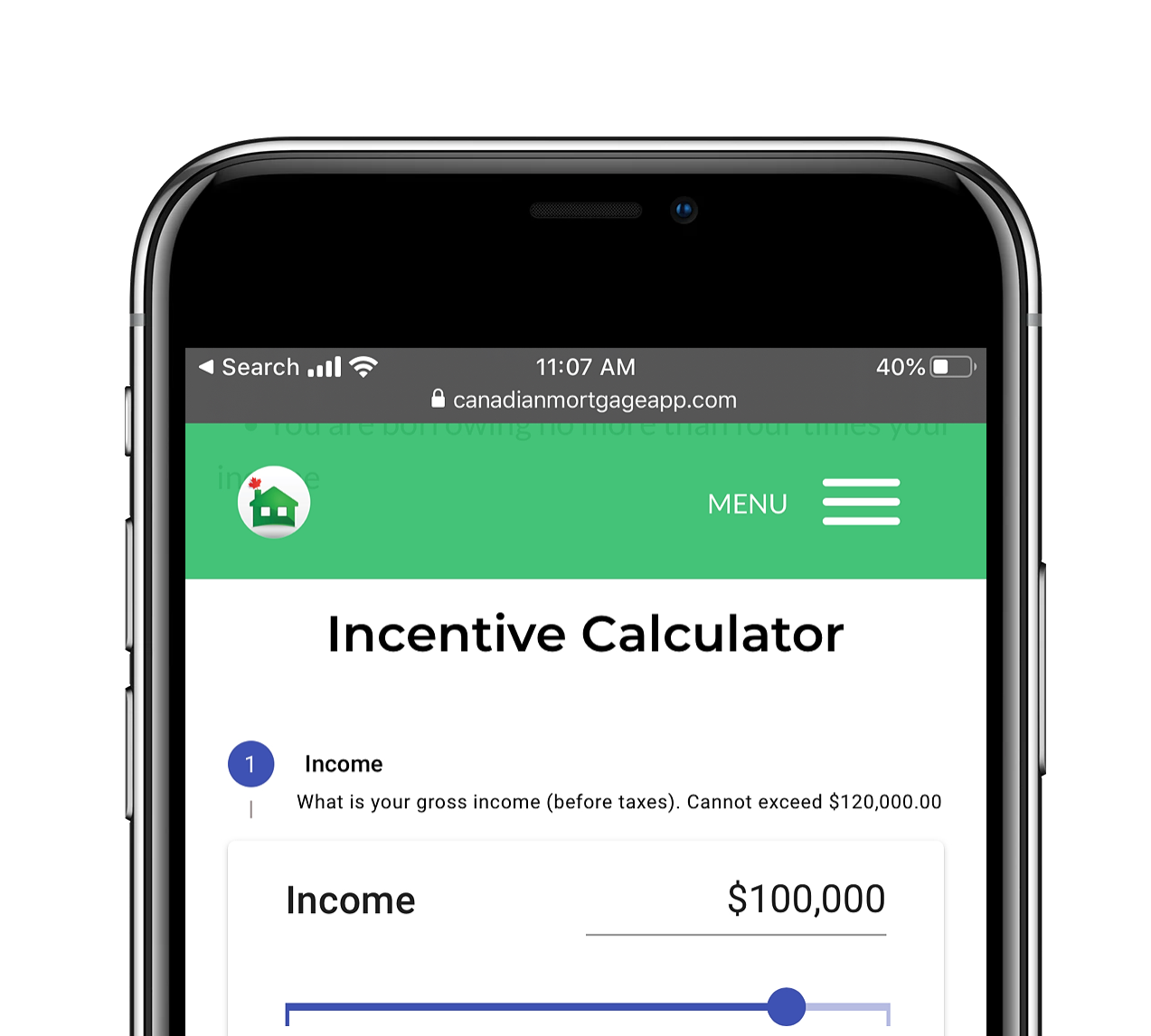 First Time Home Buyer Incentive Calculator