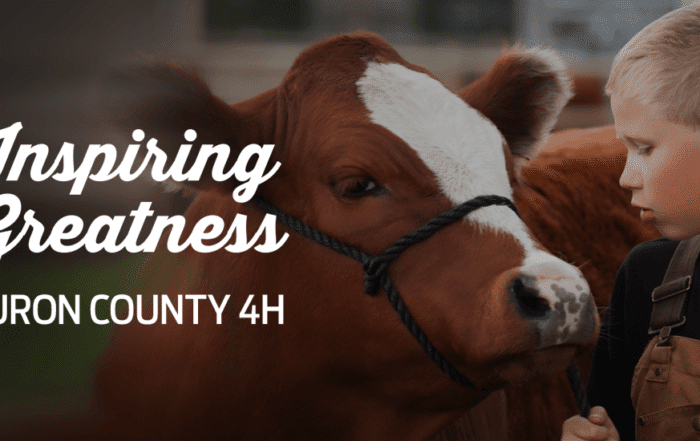 Inspiring Greatness - Huron County 4H