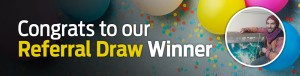 Congrats to our referral draw winner