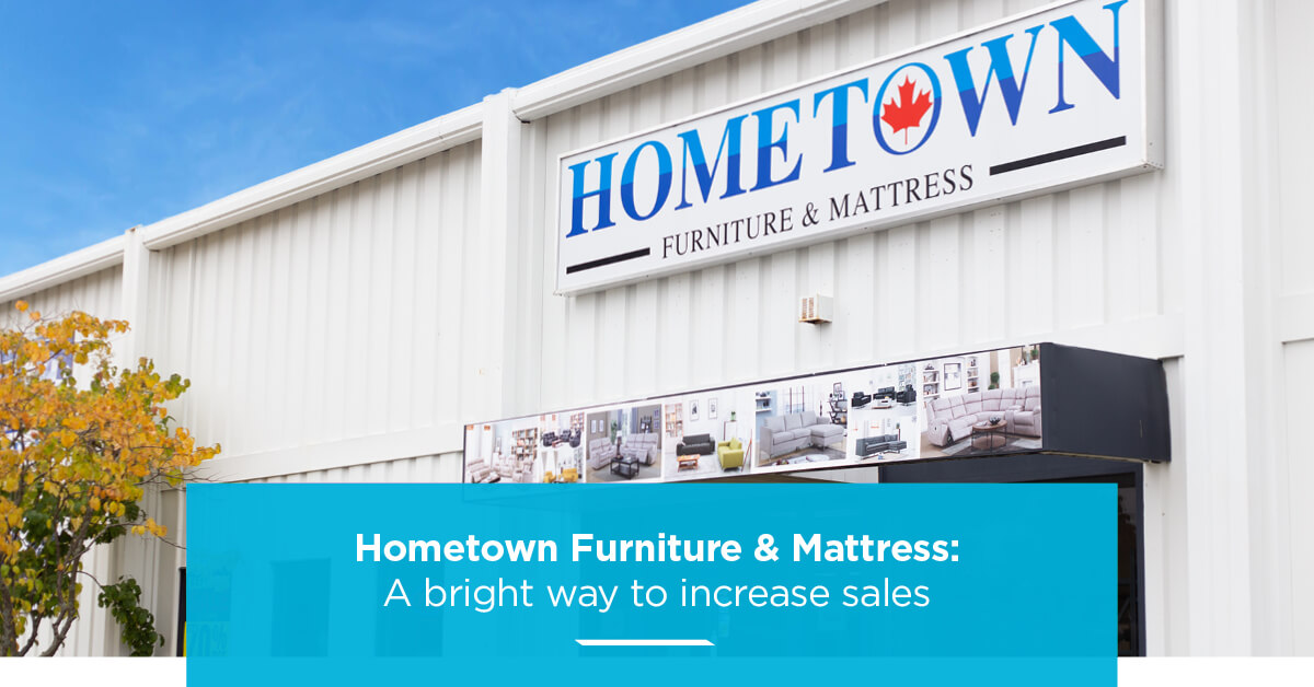 hometown furniture storefront