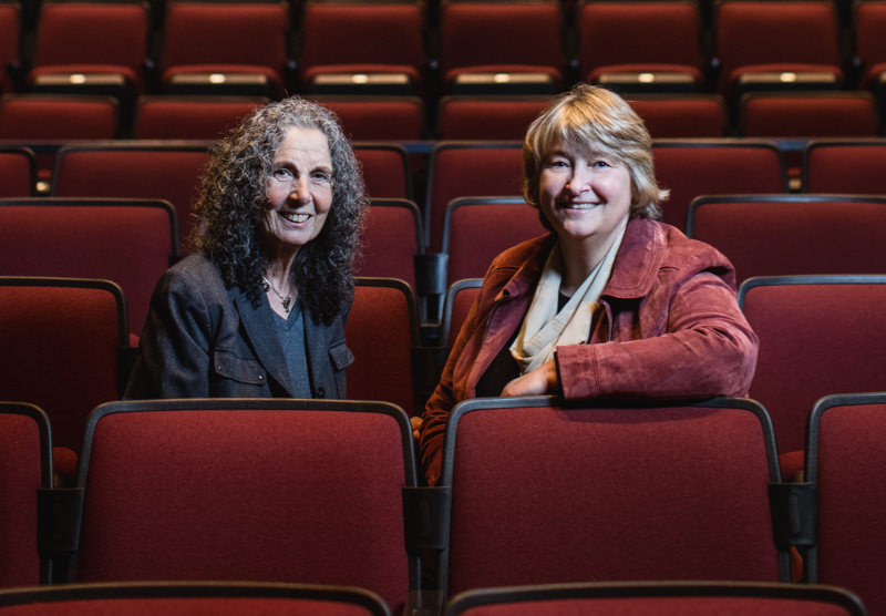2 women in a theatre