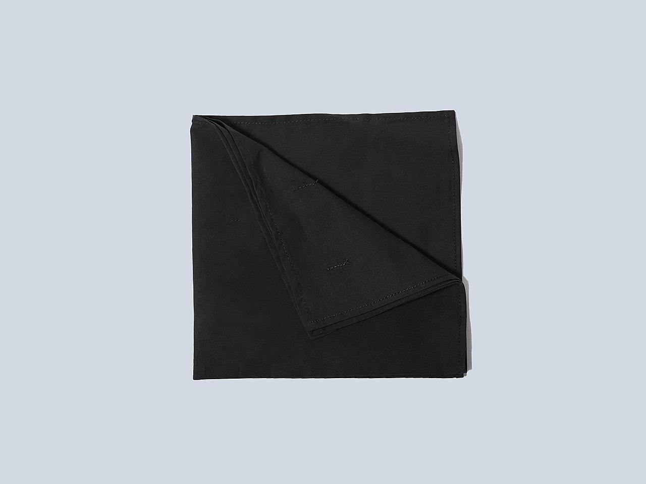 4f18670f97425 The Black Cotton Pocket Square   Product   Eph Apparel