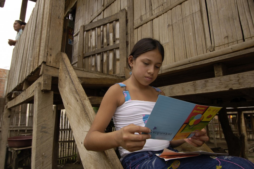 Gema Monserrate Cano CHOEZ reading sponsor letters
