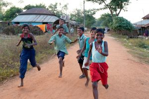 Indian Children Running