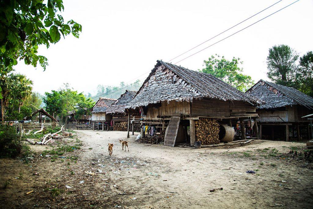 A Karen village in northern Thailand.