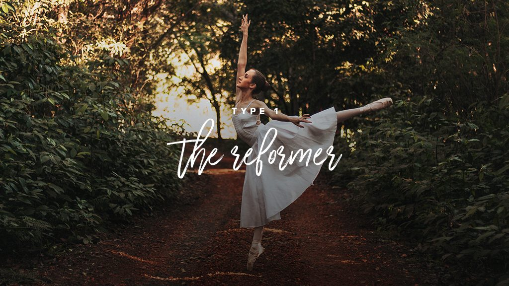 """Type 1: the reformer"". A ballerina in dancing in the woods"
