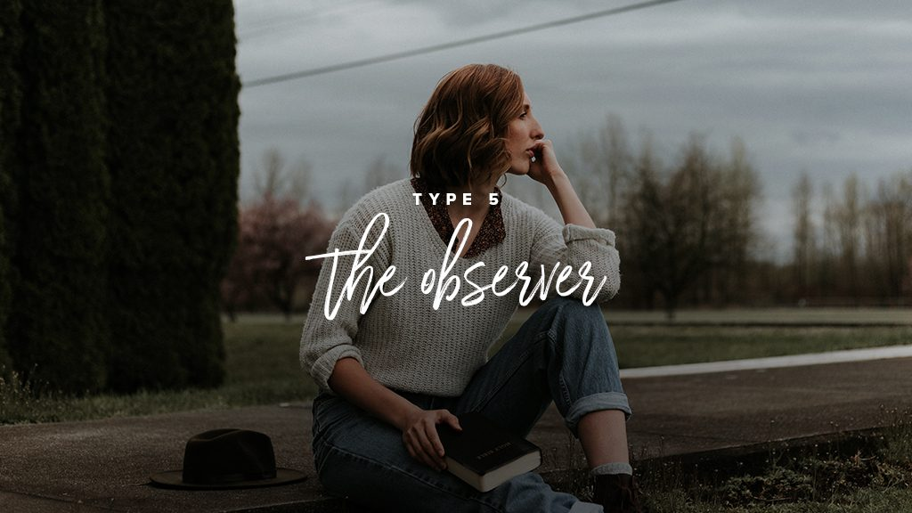 "A GIRL WEARING JEANS AND A WHITE SWEATER LOOKS CONTEMPLATIVELY OFF TO THE DISTANCE. ""TYPE 5: THE OBSERVER"""