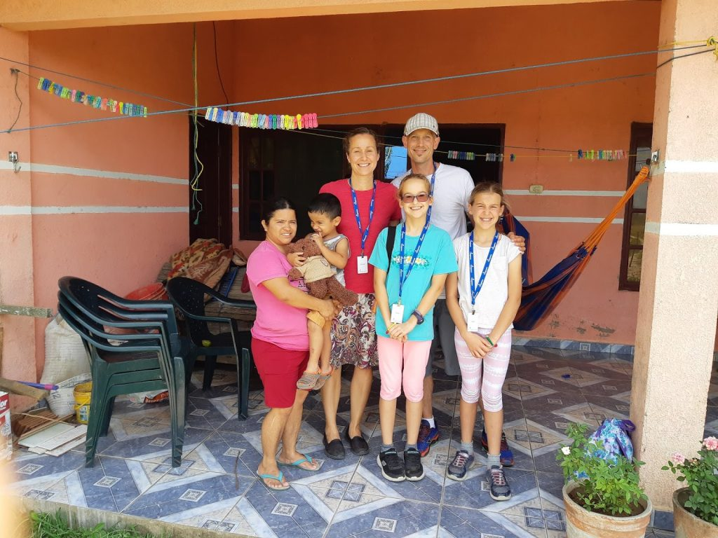The Gray family visiting Compassion's work in Bolivia