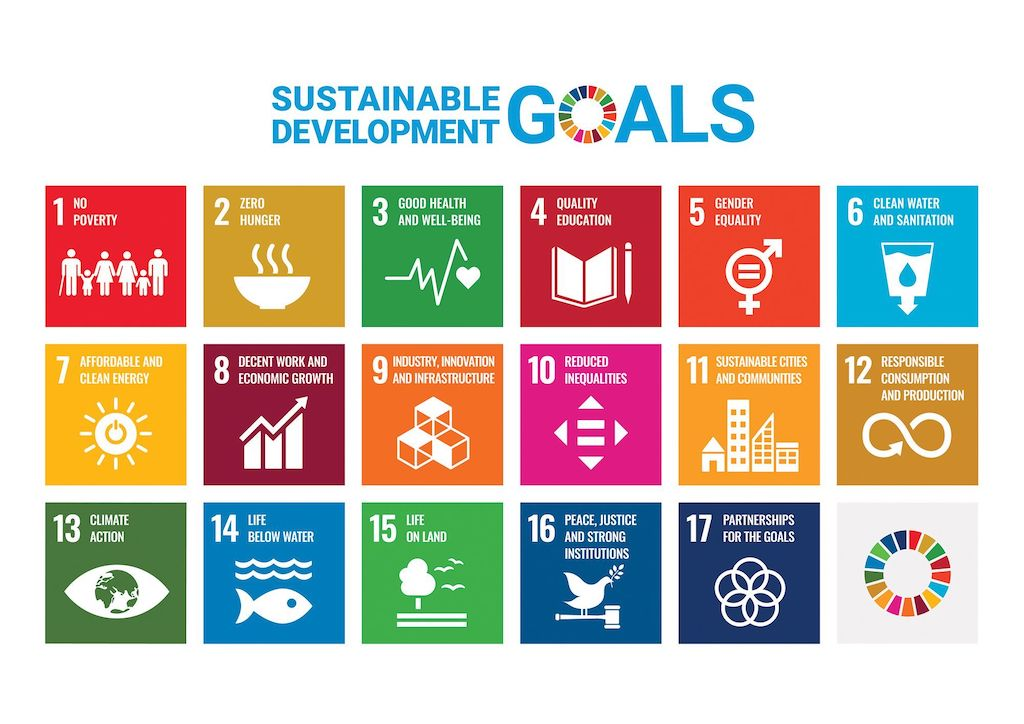 A graphic outlining the 17 Sustainable Development Goals.