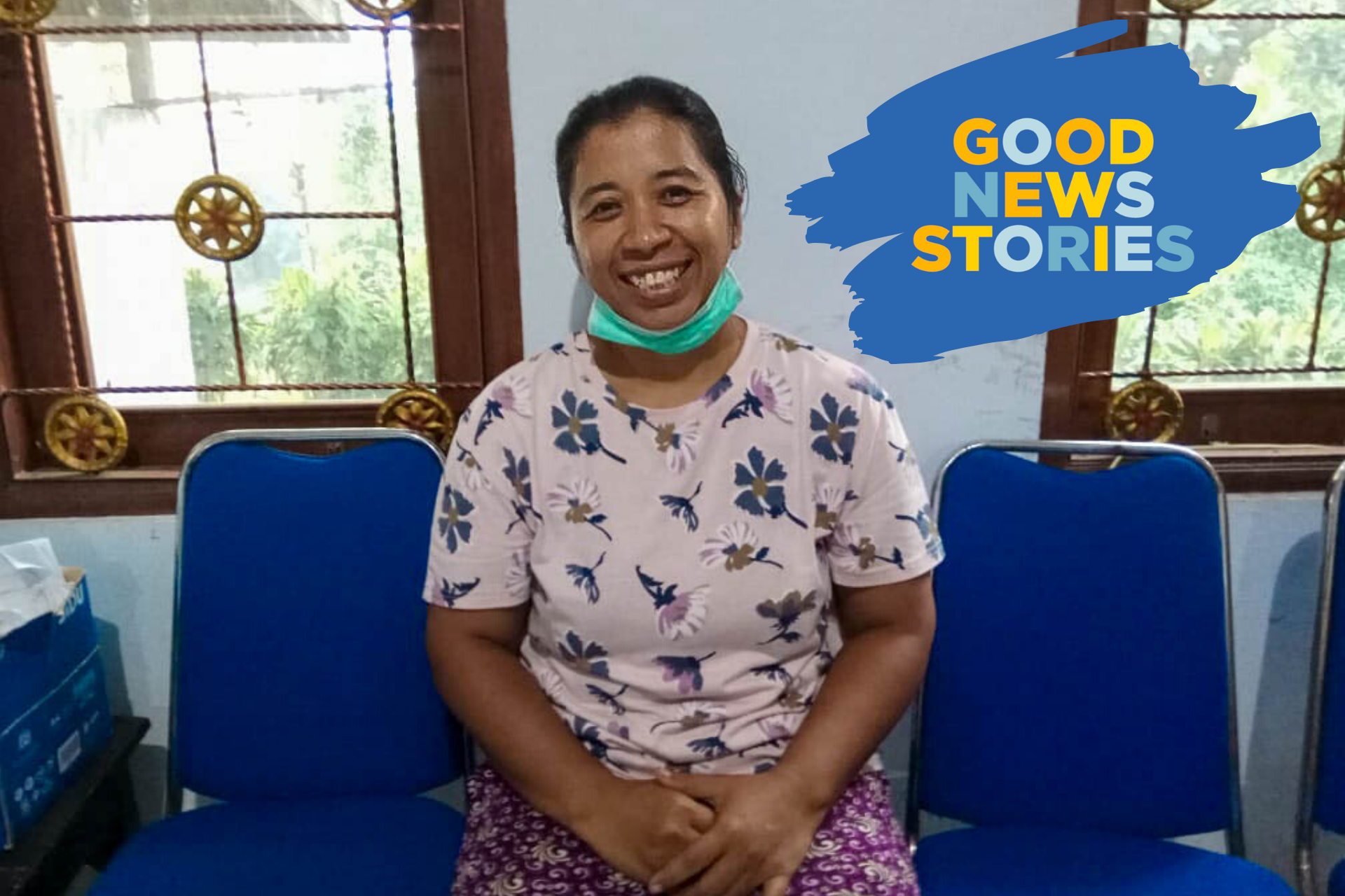 A photo of a Compassion staff member in Indonesia